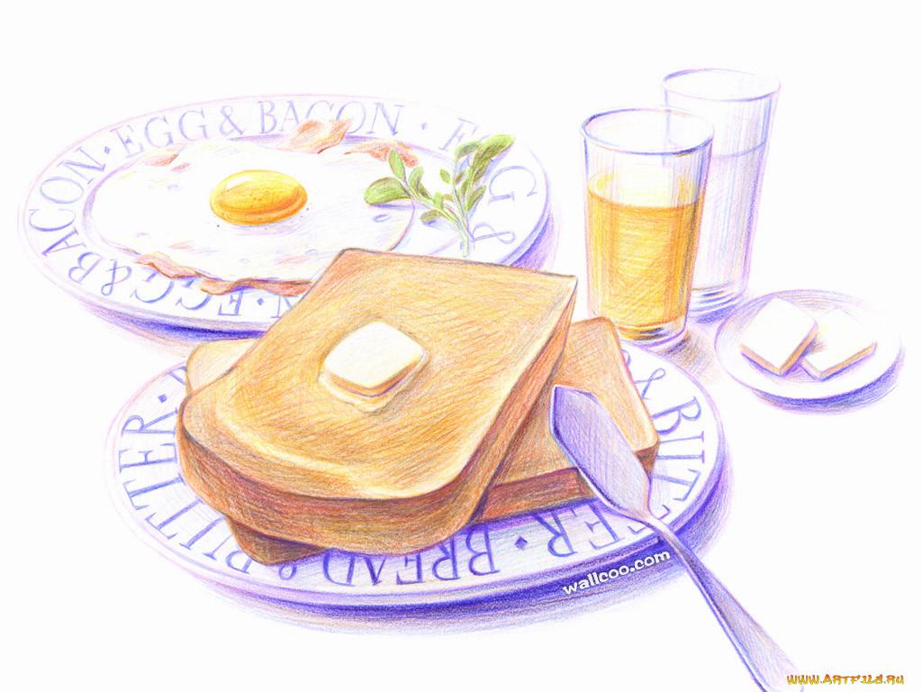 рисунки еды карандашом набить руку